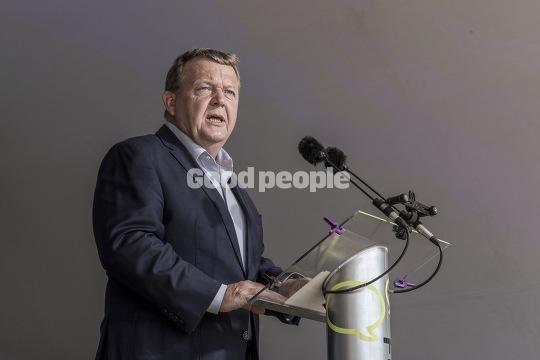 Lars Løkke Rasmussen til partiledertale