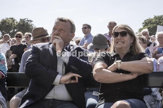 Lars Løkke Rasmussen med sin kone, Solrun Løkke Rasmussen