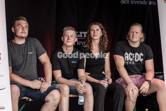 De fire deltagere i DM i Debat finalen