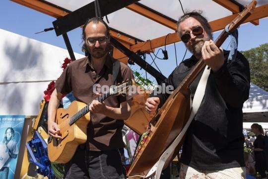 Musikere på folkemødet