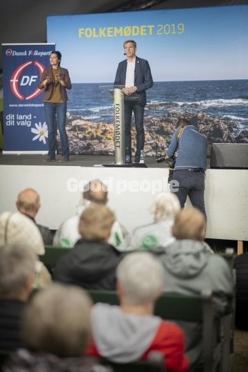 Kristian Thulesen Dahl holder partiledertale på hovedscenen