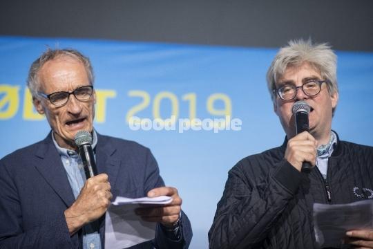 Bertel Haarder og Søren Pind synger
