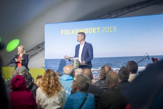 Venstres Kristian Jensen på hovedscenen