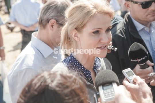 Helle Thorning-Schmidt taler til pressen