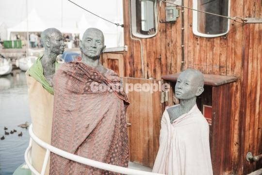 Flygtninge skulpturer