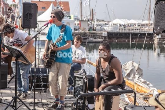 Musik på havnen