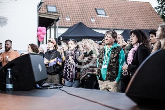 Publikum ved Rosengade Kunst og Kulture live.