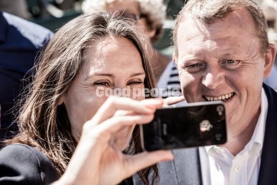 Selfie med Lars Løkke Rasmussen